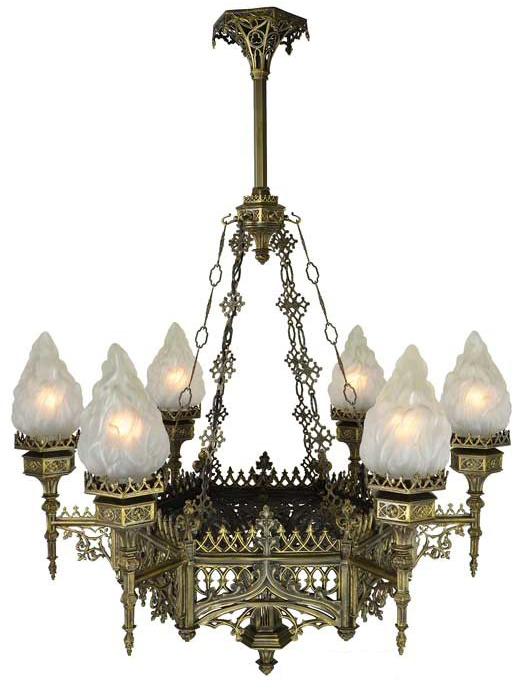 Vintage hardware lighting large gothic chandelier 685 ch dk mozeypictures Gallery
