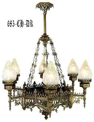 Large Gothic Chandelier 685-CH-DK