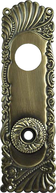Victorian classic Brass Door Plates with Keyhole