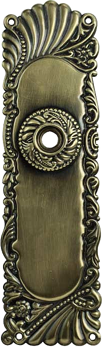decorative vintage style brass door plate for knob only