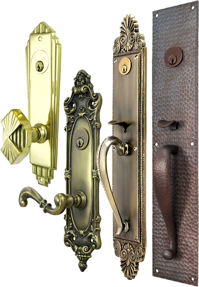 Front Door Knob Lock. Vintage And Victorian Entry Plates For Door Knob Or  Thumblatch Front
