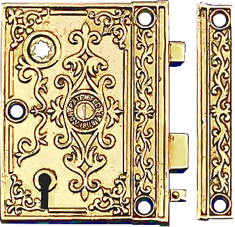 antique style rim lock sets