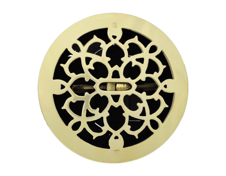 Round Brass Grill with Damper