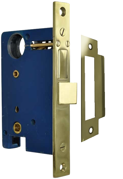 Vintage hardware lighting exterior door mortise entry lock for use with 2 knobs or handles for Exterior door handles and locks