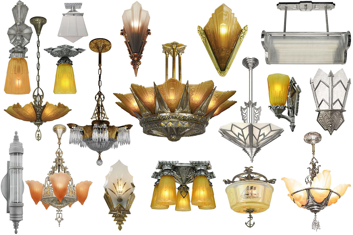 Vintage hardware lighting vintage hardware and for Art nouveau lighting fixtures