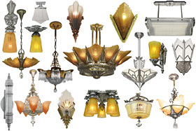 art deco 1930s lighting
