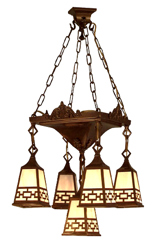 arts crafts craftsman mission chandeliers ceiling lights