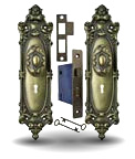 interior mortise lock set