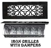 vintage cast iron grille and vent with damper