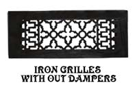 vintage iron vent and grille without damper