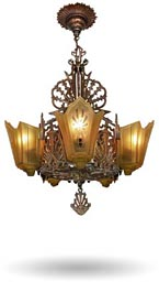 antique light fixtures and lamps
