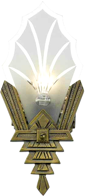 Replacement Art Deco Vintage Wall Sconce
