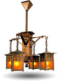 arts and crafts or craftsman style lighting