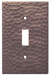 Hammered Copper Switch Plate