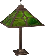 mission and arts and crafts lamp glass shade