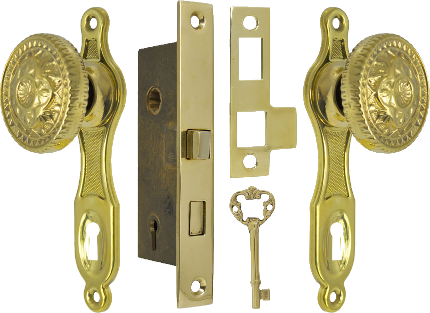 Narrow backset door set