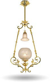 rococo gaslight victorian pendant school-house lights