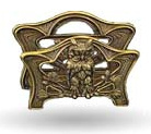 victorian brass owl napkin holder