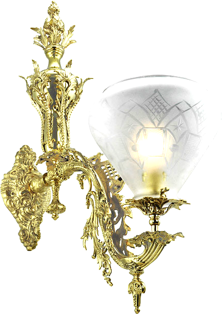 Reproduction Antique Victorian Rococo Wall Sconces