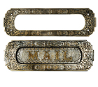 vintage brass door mailslot