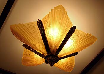 close ceiling fixtures art deco