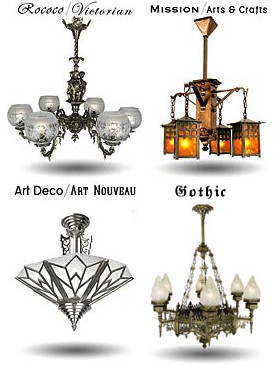 rococo and mission style light fixtures