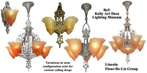 Art-Deco-Lincoln-Fleur-De-Lis-Orange-Slip-Shade-(0110G)