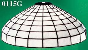 "16"" Diameter Leaded Art Glass Shade Small Hole Mount (0115G)"