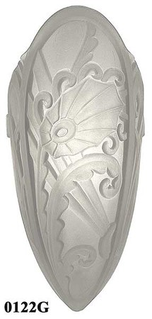 Recreated Lincoln Medieval Series Art Deco Slip Shade Frosted Glass (0122G)