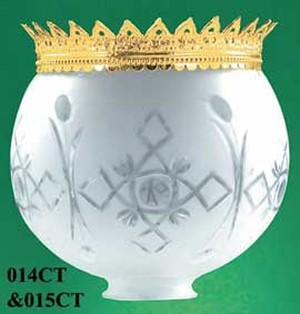 Recreated-Brass-Crown-For-8-inch-Ball-Glass-Shade-(015CT)