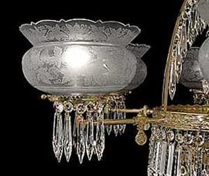 Antique Reproduction Crown Gl Handcut Oakleaf 4