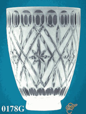 "Handcut Crystal Shade 2 1/4"" Fitter (0178G)"