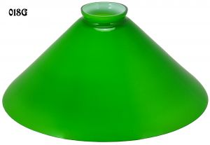 "Glass Shade Recreated Green 10"" Cone Shade, 2 1/4"" Fitter (018G)"