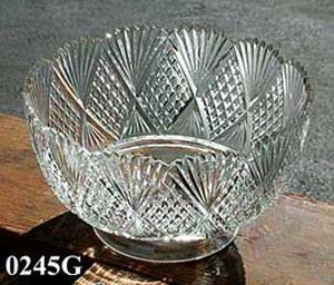 "Handcut Glass Shade Lead Crystal 4"" Fitter (0245G)"
