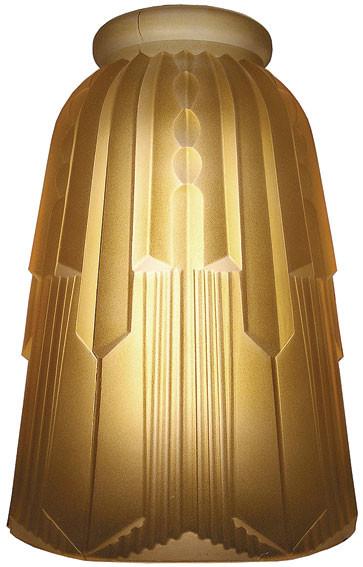 Vintage Hardware Amp Lighting Hughes Art Deco Amber Glass