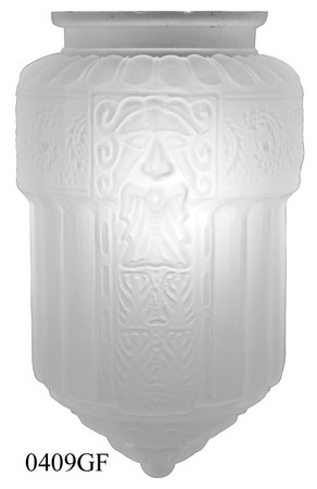 "Opal Glass Faces Shade 3 1/4"" Fitter Frosted or Translucent (0409GF)"