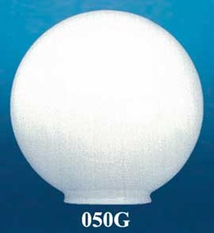 "12"" Diameter Opal Glass Ball Shade 6"" Fitter (050G)"