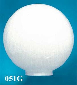 "Opal Glass Ball Shade 14"" Diameter 6"" Fitter (051G)"