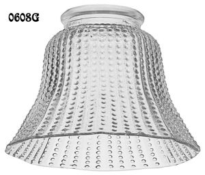 "Hexagonal Beaded Glass Shade 2 1/4"" Fitter (0608G)"