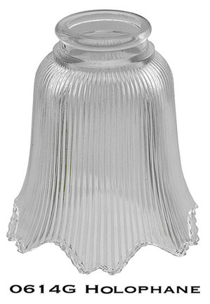 "Recreated Glass Holophane Shade 2 1/4"" Fitter (0614G)"
