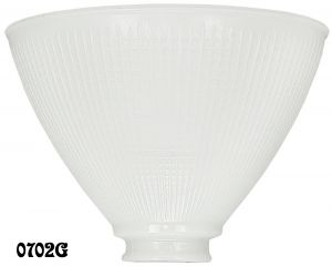 8 Inch I.E.S. Opal Glass Torchiere Floor Lamp Shade 2.25 Inch Fitter Size (0702G)