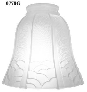 "Glass Shade Recreated Arts & Crafts Frosted Glass Shade 2 1/4"" Fitter (0778G)"