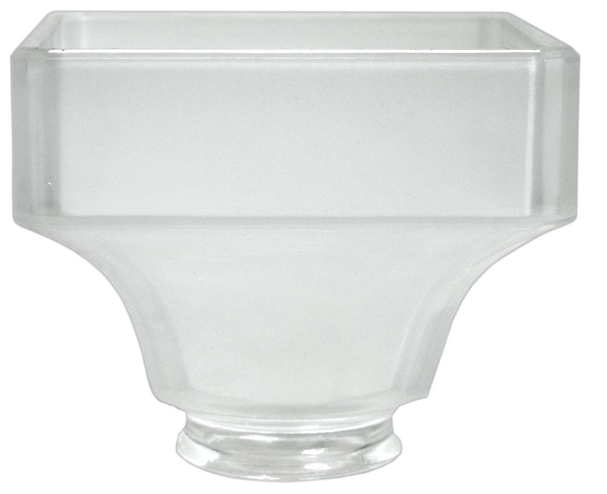 Mission Square Electric Glass Shade 2 1 4