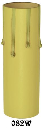 "4"" Medium Base Ivory Drip Paper Candle Cover (082W)"