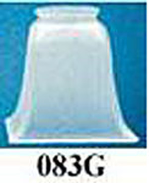 "Glass Shade Recreated Mission Square Contour Shade 2 1/4"" Fitter Choice Of Color (083G)"