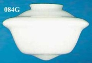 "16 1/2"" Diameter Schoolhouse Opal Glass Shade 6"" Fitter (084G)"