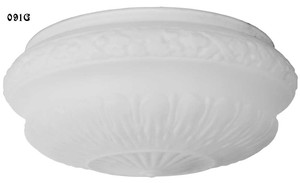 "Victorian Recreated Empire 13 1/2"" Etched Opal Glass Bowl Shade (091G)"