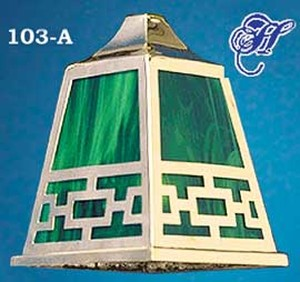 Mission Chain Pattern Shade Only Choice of Glass color (103-A)