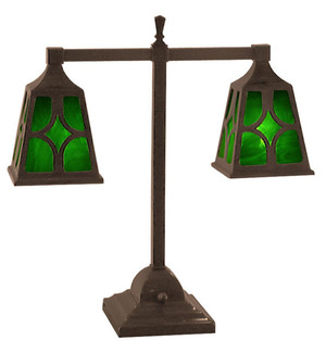 Mission Style T 2-Lamp Diamond Shade (106-DJ2-PL)