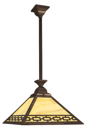 Mission Style Rod Hung Pendant Chain Design Shade (112-MC3-EP)